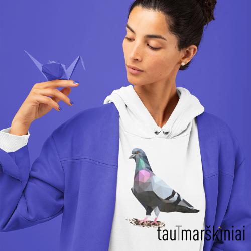 """Moteriškas džemperis su gobtuvu """"Balandis"""""""