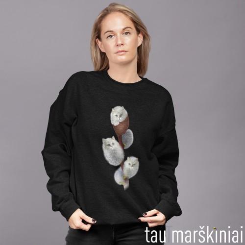 """Moteriškas džemperis be gobtuvo """"Karklų kačiukai"""""""